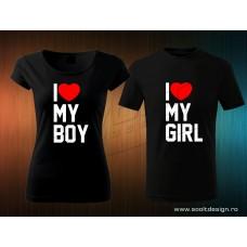i love my girl-boy polószett